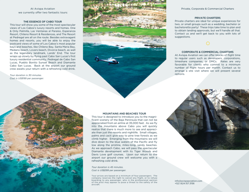 cabo helicopter tours avispa - branding and web design by LA76